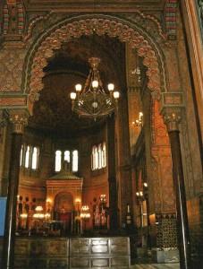 Interno della Sinagoga di Firenze