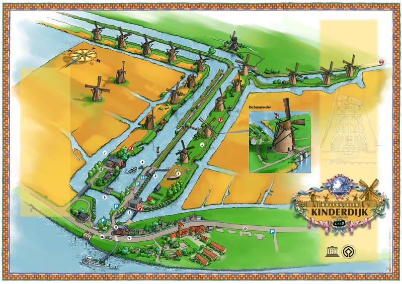 Mappa mulini Kinderdijk